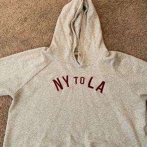 NY To LA cropped hoodie (Fits like XL/1X